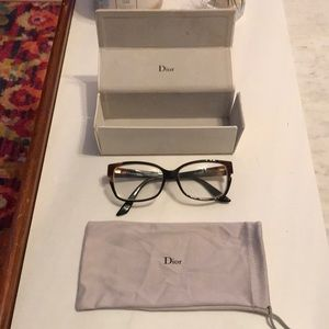 Dior Tortoiseshell pattern Eye glasses